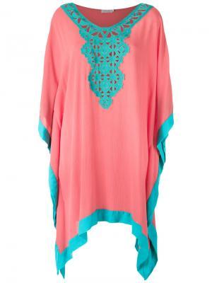 Lace detail beach dress Brigitte. Цвет: розовый и фиолетовый