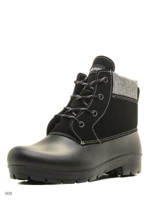 Ботинки ДюнАстра. Цвет: черный, серый