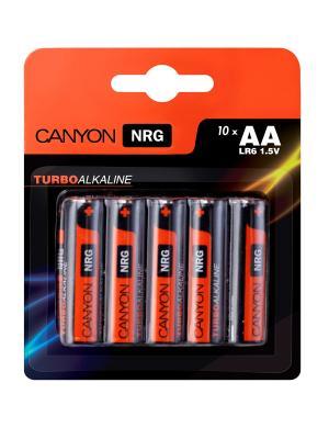 Батарейки, Canyon NRG alkaline battery AA, 10pcs/pack.. Цвет: черный
