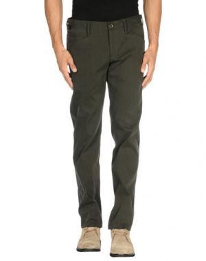 Повседневные брюки VERSUS. Цвет: зеленый-милитари