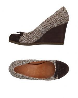 Туфли SCHOLL. Цвет: темно-коричневый