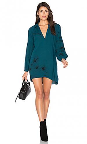 Платье miss des barres Stillwater. Цвет: сине-зеленый