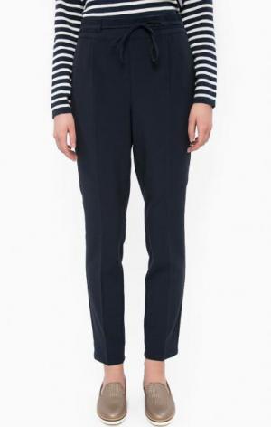 Зауженные трикотажные брюки LERROS. Цвет: синий