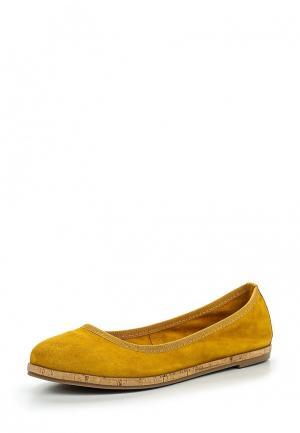 Балетки Tamaris. Цвет: желтый