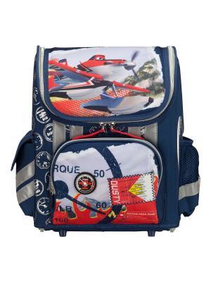 Ранец-трансформер профилактический с EVA-спинкой. Planes. Цвет: синий