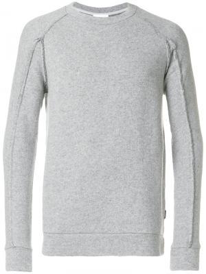 Джемпер с видными швами Dondup. Цвет: серый