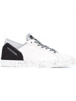 Кроссовки с блестками Hogan Rebel. Цвет: белый