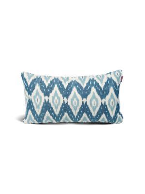 Чехол на подушку декоративныйIkat Long 35*60см RAWEDGE. Цвет: зеленый, синий