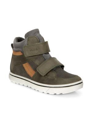 Ботинки ECCO. Цвет: зеленый, коричневый, серый