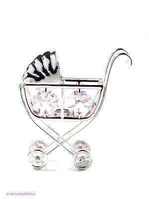 Фигурка Детская коляска Юнион. Цвет: серебристый