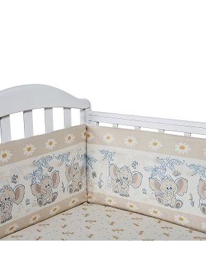 Бортик для кроватки Baby Nice. Цвет: бежевый