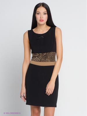 Платье COMPAGNIA ITALIANA. Цвет: черный, бежевый