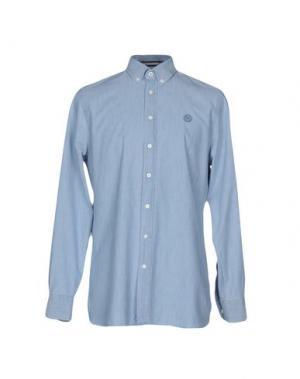 Pубашка GLOVERALL. Цвет: синий