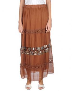 Длинная юбка GIORGIA & JOHNS. Цвет: коричневый