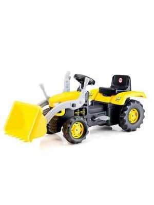Педальный трактор-экскаватора желто-черный DOLU. Цвет: желтый
