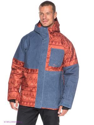 Куртка REYN 10K JKT Quiksilver. Цвет: синий, коричневый