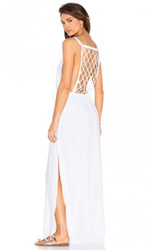 Макси платье Lenny Niemeyer. Цвет: белый