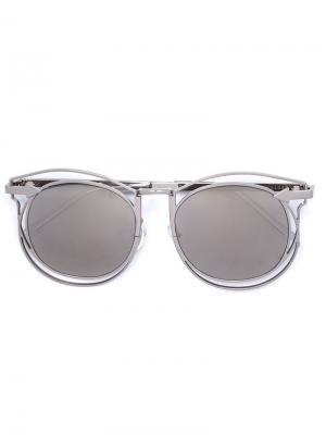 Солнцезащитные очки Simone Karen Walker Eyewear. Цвет: металлический