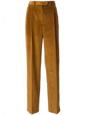 Широкие брюки Mulberry. Цвет: коричневый