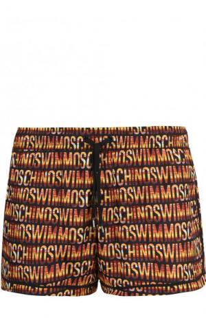 Плавки-шорты с принтом Moschino. Цвет: оранжевый