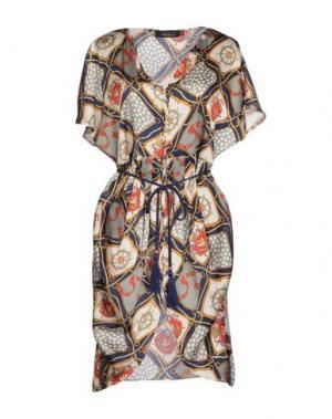 Короткое платье MINA. Цвет: серый