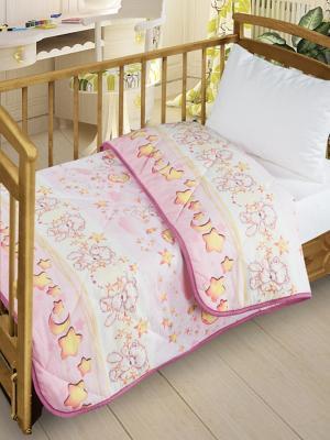 Одеяло-покрывало Letto для детской кроватки SP-16 110*140см.. Цвет: розовый