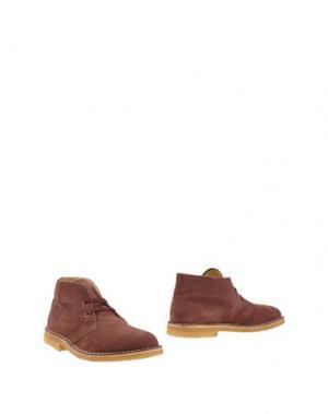 Полусапоги и высокие ботинки ALBERTO MORETTI. Цвет: коричневый