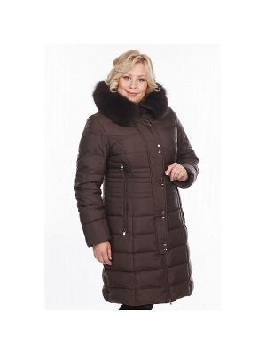 Пальто женское DEFREEZE. Цвет: коричневый