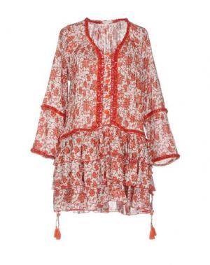 Короткое платье POUPETTE ST BARTH. Цвет: красный