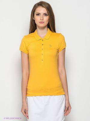 Футболка-поло U.S. Polo Assn.. Цвет: желтый