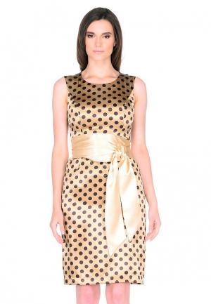 Платье Shelter. Цвет: золотой