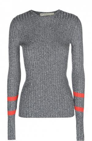 Облегающий пуловер с контрастными рукавами Mary Katrantzou. Цвет: серый