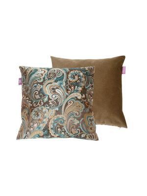 Декоративная подушка Kupu. Цвет: лазурный, коричневый, темно-коричневый