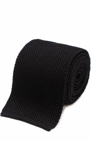 Шелковый вязаный галстук Tom Ford. Цвет: черный