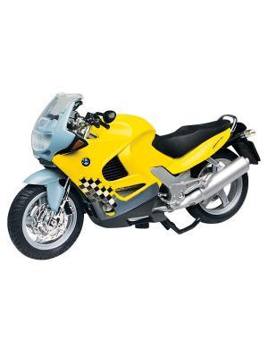 Мото BMW K1200RS 1:18 AUTOTIME. Цвет: серебристый, желтый, черный
