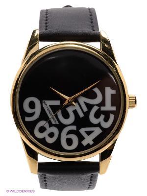 Часы Упавшие цифры Mitya Veselkov. Цвет: черный