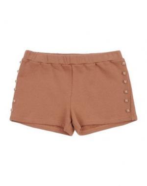 Повседневные шорты DOUUOD. Цвет: коричневый