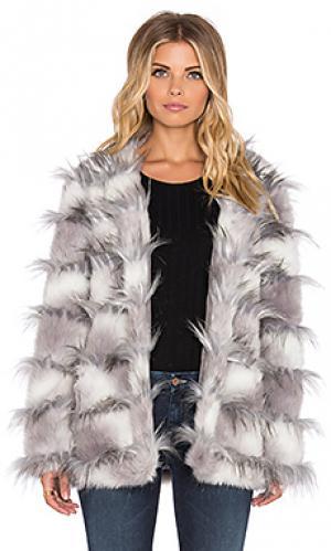 Куртка из искусственного меха ice bar The Allflower Creative. Цвет: серый