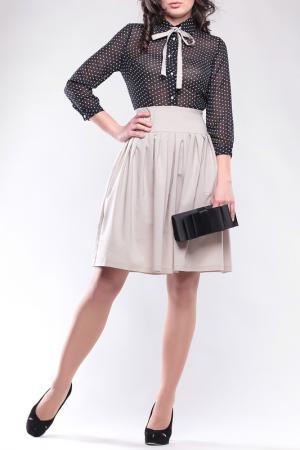 Платье REBECCA TATTI. Цвет: черно-бежевый, горох