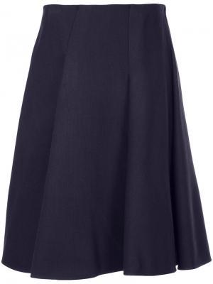 Пышная юбка миди Paule Ka. Цвет: розовый и фиолетовый