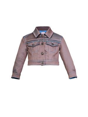 Джинсовая куртка Lolly. Цвет: темно-серый