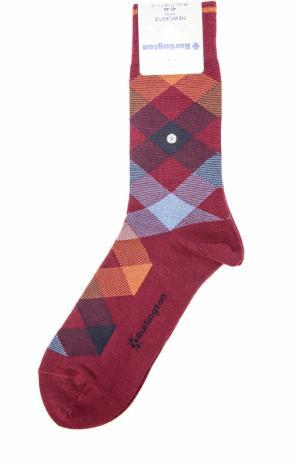 Шерстяные носки Newcastle Burlington. Цвет: бордовый