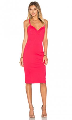 Платье camille Amanda Uprichard. Цвет: красный
