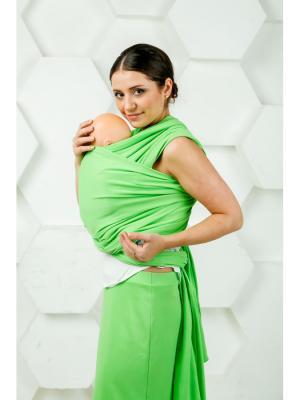 Слинг-шарф трикотажный Яблоко МАМАРАДА. Цвет: зеленый