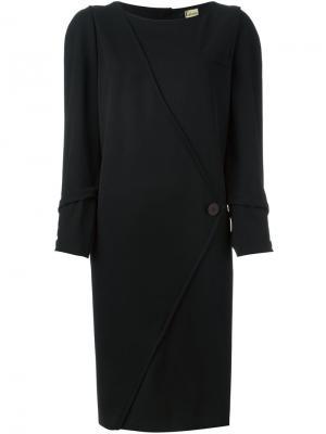 Платье-шифт Krizia Vintage. Цвет: чёрный