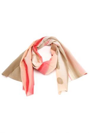 Шарф F.FRANTELLI. Цвет: розовый, песочный