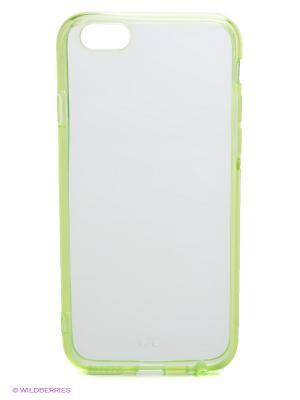 Чехол для iPhone 6 Glass Kawaii Factory. Цвет: салатовый, белый