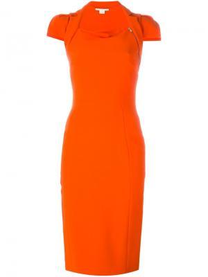 Приталенное платье Antonio Berardi. Цвет: жёлтый и оранжевый