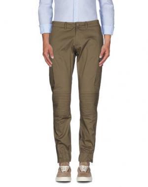 Повседневные брюки HŌSIO. Цвет: хаки