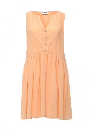 Платье Atos Lombardini. Цвет: оранжевый